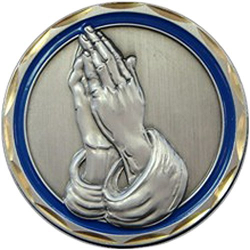 Praying Hands Religious Coin Spiritual Gift Men Women Prayer Coin Recovery Gifts by Eagle Crest