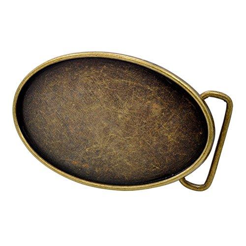 Buckle Rage Adult Unisex Craft Rectangle Custom Blank Belt Buckle Oval Bronze