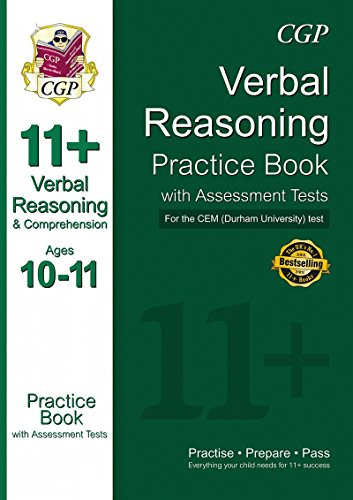 11+ Verbal Reasoning Practice Book with Assessment Tests (Ages 10-11) for the Cem Test (Univ of Durham)