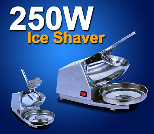 Ice Shaver Machine Electric Snow Cone Maker Stainless Steel Shaving Blade