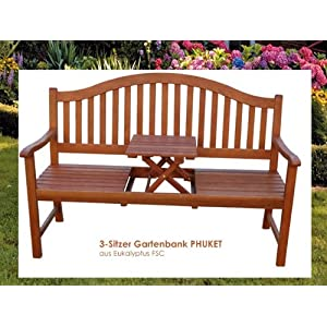 gartenbank phuket 3 sitzer mit tisch sitzbank bank eukalyptus fsc hartholz gartenbank holz. Black Bedroom Furniture Sets. Home Design Ideas
