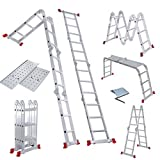 Miller Aluminium Multi-Purpose Ladder 3.7m With New Safety Platforms