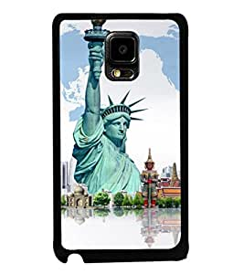 printtech Wonders of World Back Case Cover for Samsung Galaxy Note i9220::Samsung Galaxy Note 1 N7000