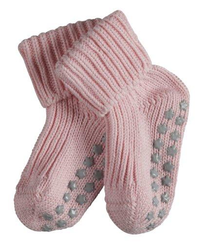 FALKE Unisex - Baby Socken Cotton Catspads, Einfarbig, Gr. 62/68, Rosa (powderrose)