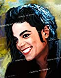 MICHAEL JACKSON ORG MIXED MEDIA UNIQUE PAINTING ON CANVAS W GALLERY WRAP STYLE 18X24X1.5""