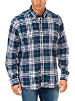Mc Gregor Camisa Hombre (Azul / Verde / Blanco)