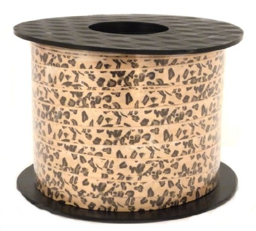 "Hollywood Ribbon Industries -Leopard Print Ribbon - 1/4"" wide x 200 Yards"
