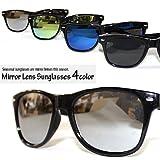 レイバン系ミラーレンズ ブルー イエロー ブラック シルバー 人気 メンズ レディース サングラス 通販 UV 紫外線