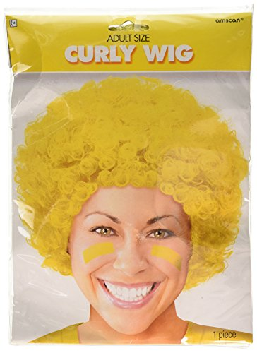 Yellow Curly Wigs