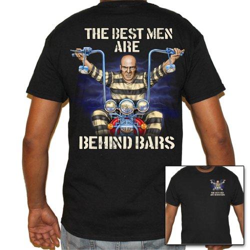 Biker Life USA Men's Real Men are Behind Bars Biker T-Shirt