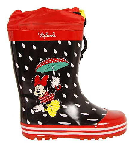 Stivali da pioggia per Bambina DISNEY DM000210-B4643 RED-BLACK size-map 35