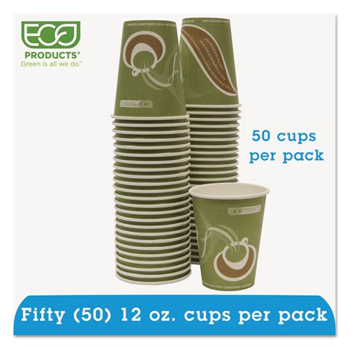 Eco-Products - Evolution World 24% PCF Hot Drink Cups, Sea Green, 12oz, 50/Pack EPBRHC12EWPK (DMi PK