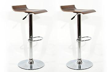 2x sgabello da bar Color legno Legno ruotabile regolabile in altezza