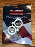 Valley Forge 1-Inch diameter Rotating Mounting Rings, 2-Piece