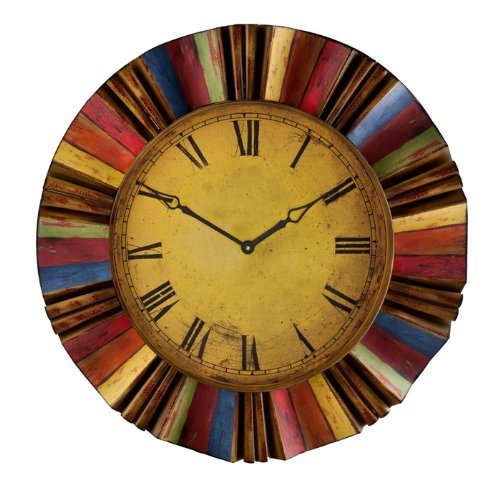 Distressed Colorful Wall Clock