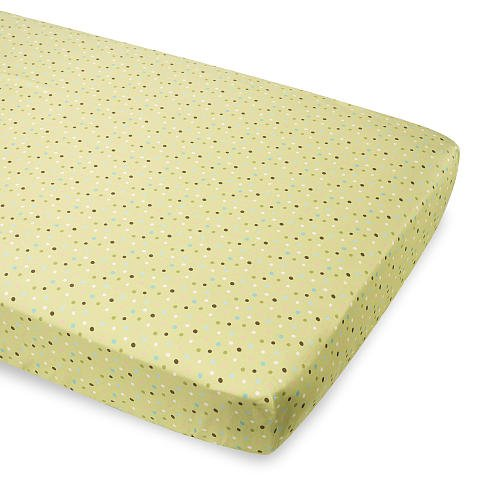 Summer Infant Breathe Easy Baby Crib Sheet - Sage Multi Dots