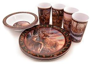 Motorhead Products Wild Wings Gift Boxed 12-Piece Melamine Tableware Sets, Deer Series by R&D Enterprises/Motorhead Products