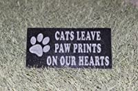 Sandblast Engraved Granite Pet Memorial Headstone Grave Marker Cat Paw 3x6