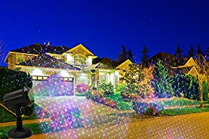 Moving Firefly LEDMALL RGB Outdoor Garden Laser Christmas Lights with RF Remote Control and Security Lock (Color: black, Alumimum)