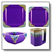 4 Piece Perfectly Square Dinnerware Place Setting - Purple