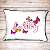 Personalised pillow case girls butterfly design perfect birthday gift