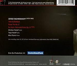 """Rachmaninov: Piano Trio No. 2 """"Trio elegiaque"""" from C-Avi"""