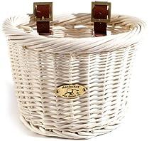Nantucket Bike Basket CompanyCruiser Collection Child-Size Bicycle Basket (White, 10 X 7.5 X 7.5)