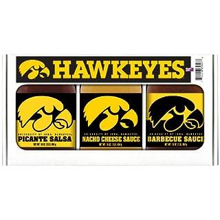 IOWA Hawkeyes Triple Play BBQ Salsa Cheese