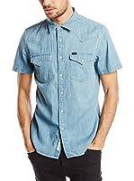 Lee Camisa Vaquera Western Ss Delft Blue (Azul)