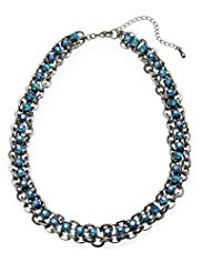 M&S Collection Diamanté Chunky Chain Collar Necklace
