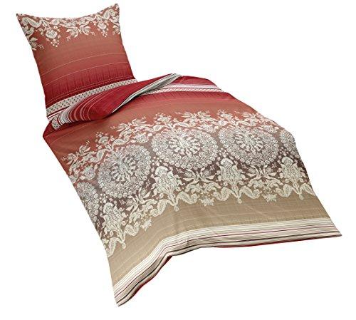 test fleuresse 133345 fb 4 soft feinbiber bettw sche 135 x 200 cm weihnachtsrot g nstig shoppen. Black Bedroom Furniture Sets. Home Design Ideas