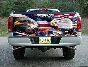 Amazon Com T40 American Flag Eagle Usa Tailgate Wrap