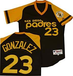 San Diego Padres Adrian Gonzalez Authentic Turn Back the Clock Throwback Jersey by Majestic