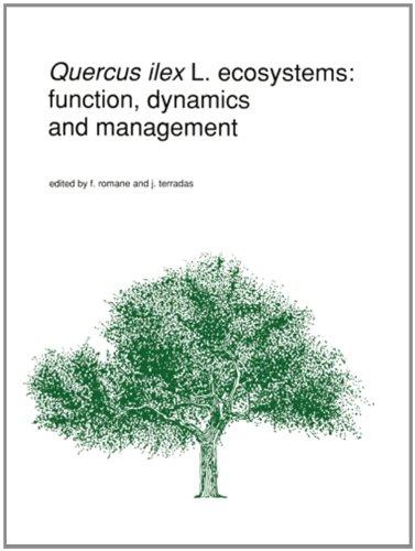 Quercus ilex L. ecosystems: function, dynamics and management (Advances in Vegetation Science)