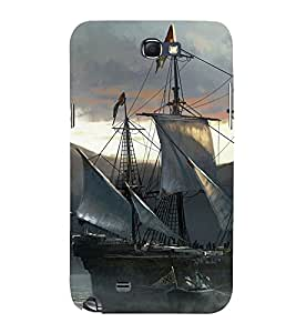 Sailboat Design Cute Fashion 3D Hard Polycarbonate Designer Back Case Cover for Samsung Galaxy Note 2 :: Samsung Galaxy Note II N7100