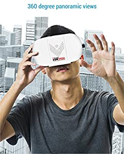 Aduro VR 1000 3D Virtual Reality Glasses Headset, Suitable for 4.7-6.0 in Smartphones for Movies / Games / Viewing w/ 360 ° Panoramic Viewing Angle from Aduro