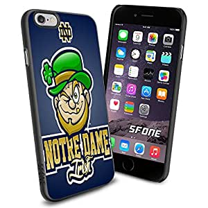 Notre Dame Fighting Irish Team WADE1274 Basketball iPhone 6 4.7 inch Case Protection Black Rubber Cover Protector
