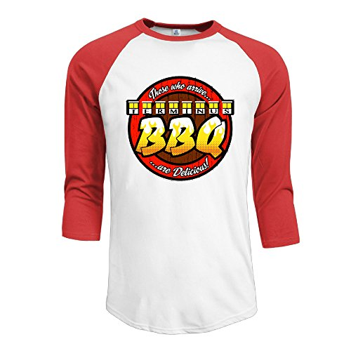 Terminus BBQ - Terminus Men's Crazy Tops Raglan Tshirts (Bbq Shirt Men compare prices)