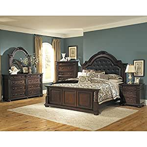 Silas panel bedroom set queen bedroom for Bedroom furniture amazon