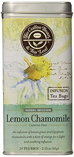 The Coffee Bean & Tea Leaf, Tea, Hand-Picked Lemon Chamomile, 20 Count Tin