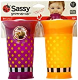 Sassy 2 Count Grow Up Cup, Purple/Orange, 9 Ounce (Discontinued by Manufacturer)