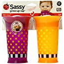 Sassy 2 Count Grow Up Cup, Purple/Orange, 9 Ounce