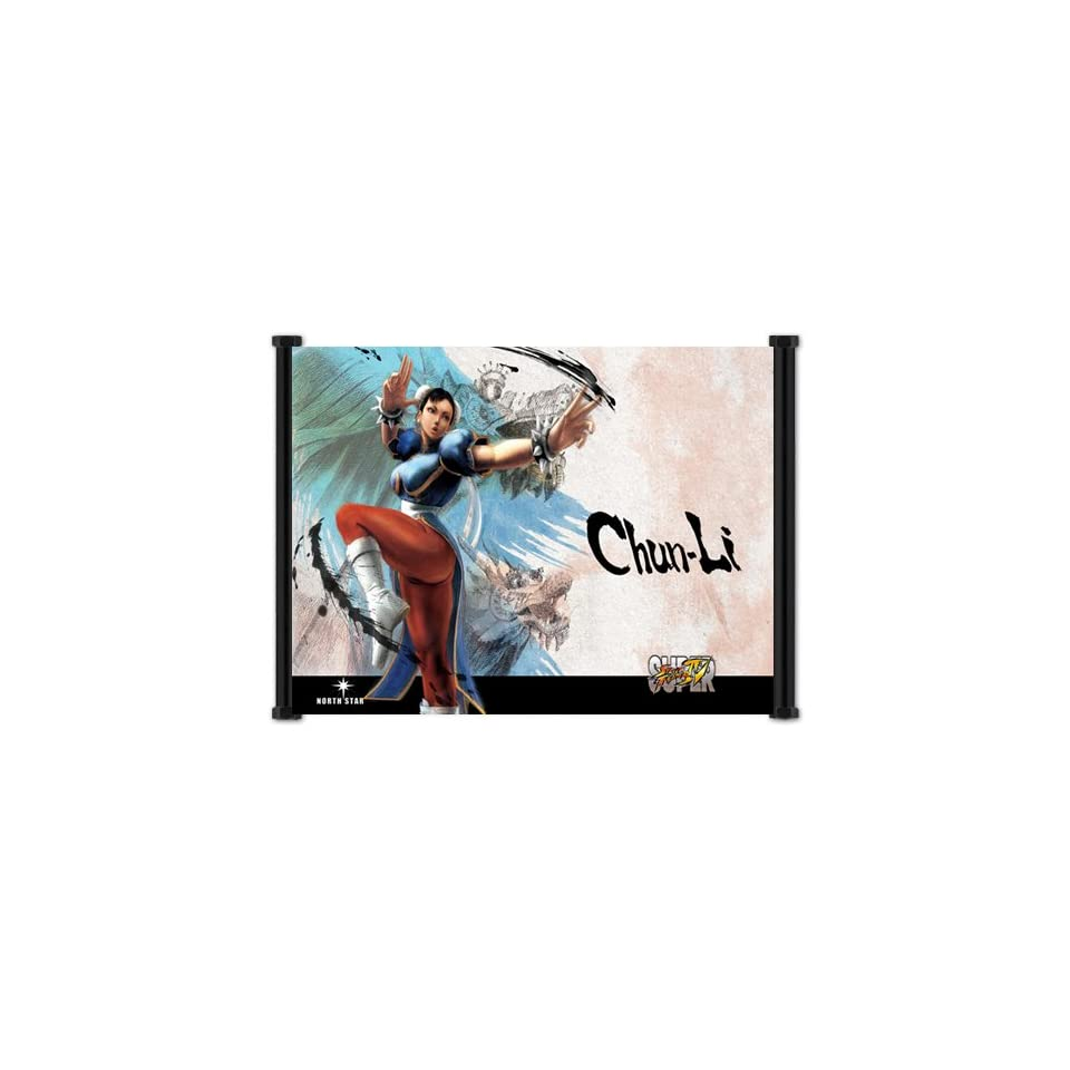 Super Street Fighter IV 4 Game ChunLi Fabric Wall Scroll Poster (42x32) Inches