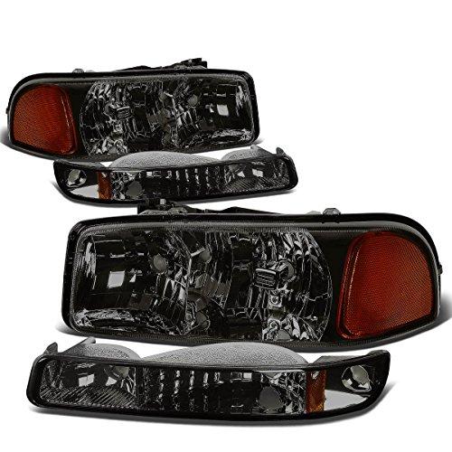 GMC Sierra/Yukon GMT800 Headlight+Bumper Light Assembly Kit (Smoke Lens Amber Reflector) (05 Sierra Headlight Assembly compare prices)