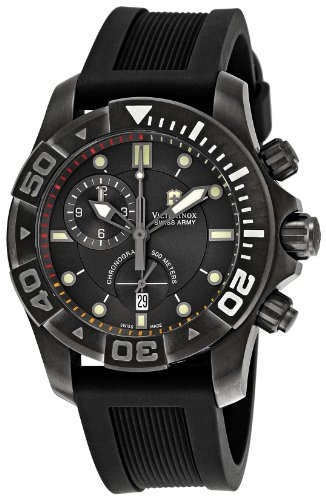 Victorinox Swiss Army Men's Dive Master 500M 241421 Black Rubber Swiss Quartz Watch with Black Dial