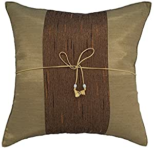 How To Make Zippered Throw Pillow Covers : Amazon.com - Avarada Striped Crepe Throw Pillow Cover Decorative Sofa Couch Cushion Cover ...
