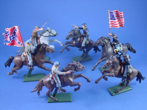 Buy Low Price Battlefield Legends Toy Soldiers Britains Super Deetial American Civil War Union and Confederate Cavalry Toy Soldiers Figure (B002PIGJGO)