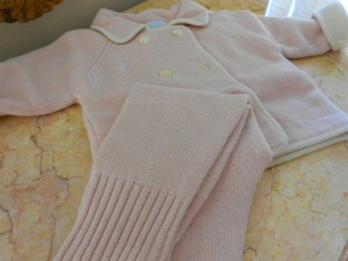 Pure Cashmere, 3 Peace Baby Sweater Set for Girls, 12-18 Month