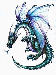 Blue Dragon Wall Decal - 12\