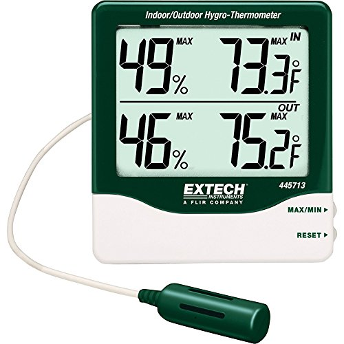 Extech 445713 Big Digit Indoor/Outdoor Hygro-Thermometer - 1